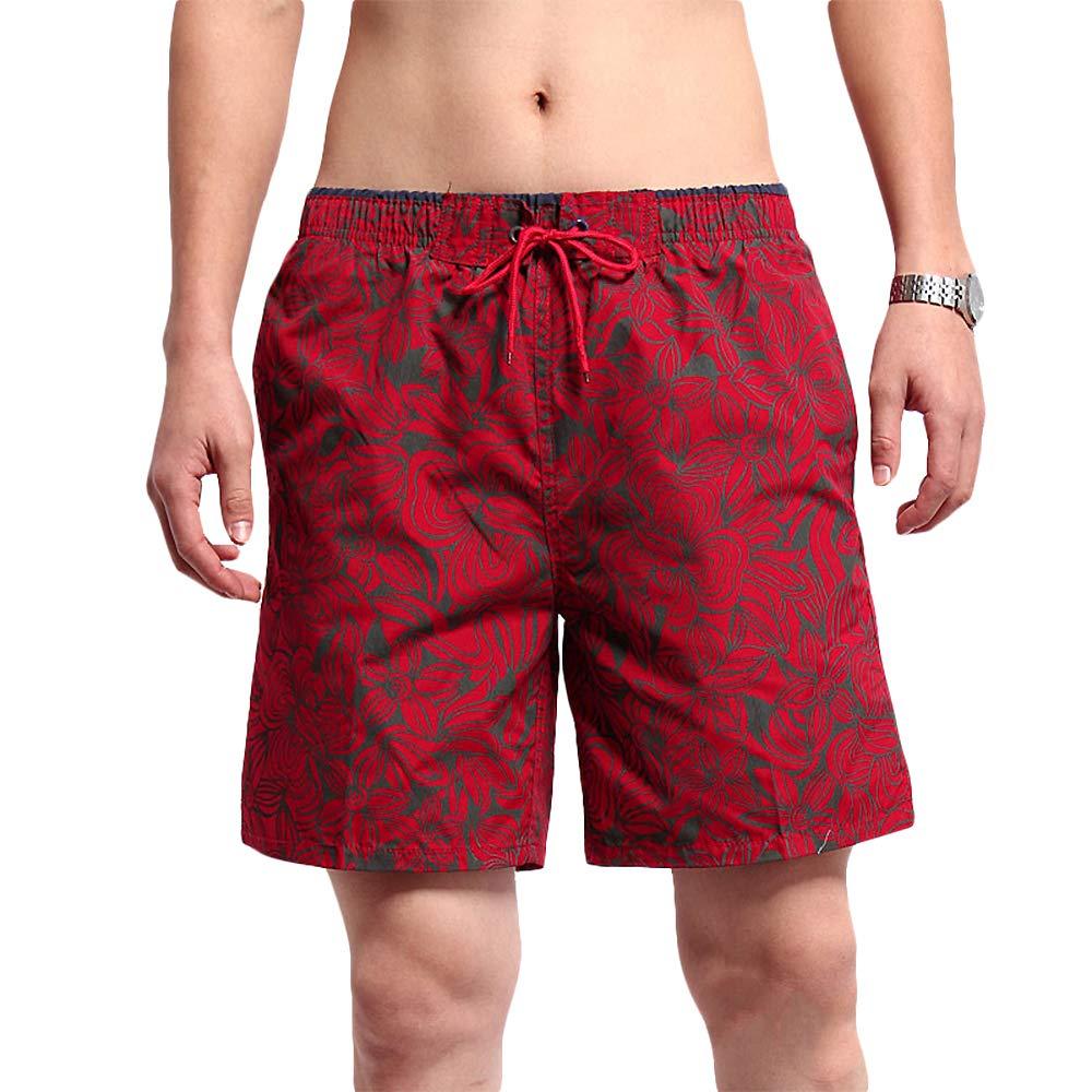 TALLA 32. SHEKINI Bañsdor Hombre Bañadores de Natación Pantalones Cortos Baño Deporte Secado Rápido Imprimió Transpirable Surf Playa Shorts
