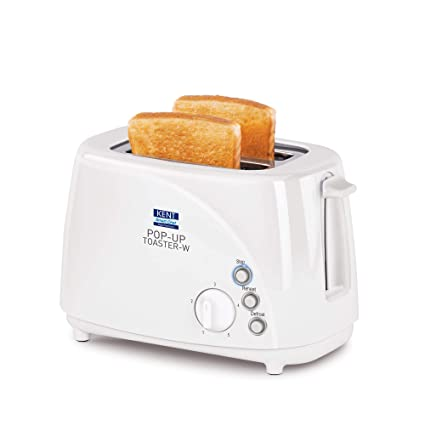 KENT 700-Watt 2-Slice Pop-up Toaster (White)