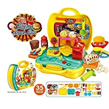 YOOMUN Party Kits in Suitcase Clay Dough Tools Kit with Models and Molds- for 3+ kids; For Little Hands.Plasticine