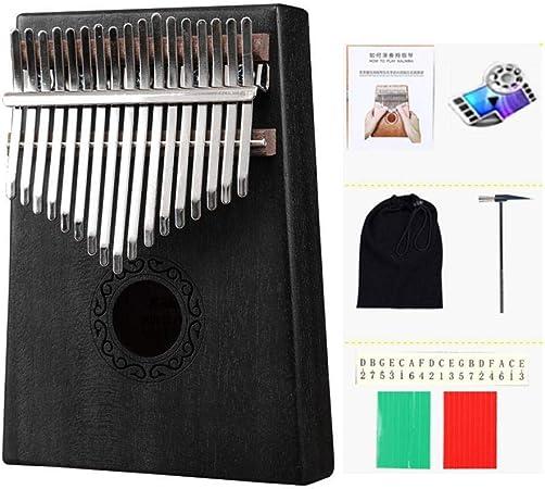 Color : Blue Dufeng 17 Chiavi Kalimba Finger Piano Thumb Piano Strumento Corpo di Mogano Musicale Musical Instrument Grande Regalo