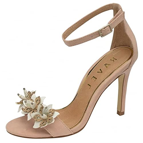 RAVEL Barely there Nude beige Stiletto High Heel Evening sandals Party Shoes  flower Peep toe womens size 4  Amazon.co.uk  Shoes   Bags