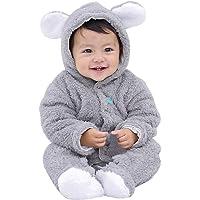 BeautyTop Baby Winter Warm Overall mit Kapuzen Baby Mädchen Jungen Baumwolle Plüsch Strampler Baby Unise Verdicken Spielanzug Neugeborenes Outfit