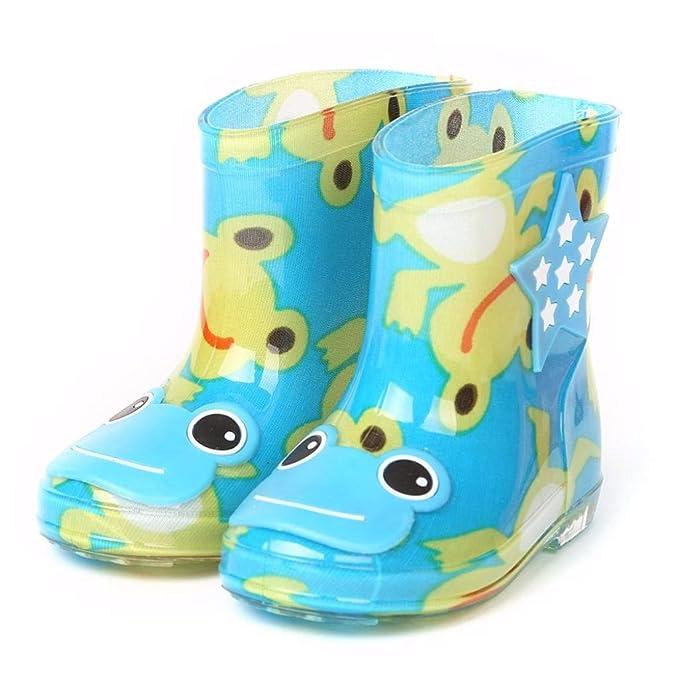 ZODOF Botas de Lluvia para niños Infantiles de Goma Impermeable Botas de Lluvia para niños Infantiles Zapatos de Lluvia para niños: Amazon.es: Ropa y ...
