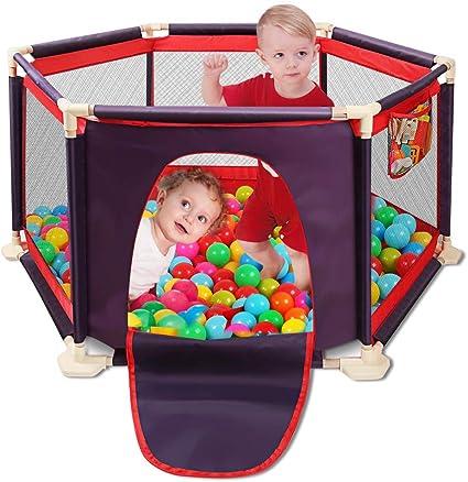 Parc /à 6 panneaux pour enfants portable et lavable avec filet respirant pour b/éb/és nouveau-n/é int/érieur et ext/érieur