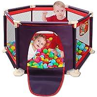 Zona de juegos para niños con parque infantil, cerca, centro de juegos portátil con estuche y malla transpirable para bebés recién nacidos, juegos en interiores y exteriores(Bolas no incluidas)