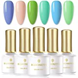 BORN PRETTY UV Gel Polish Ocean Sunshine Bright Coloured Soak Off Nail Art Gel Vanish color Design 6ml 6 Bottles Set
