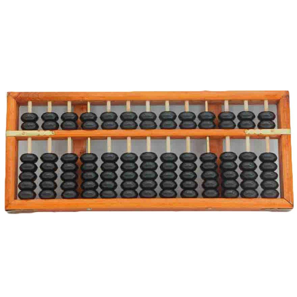 Portable 13colonna vintage in legno Abacus Aritmetica Soroban calcolo strumento di apprendimento Tool HiEast