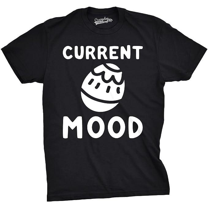 Crazy Dog Tshirts - Mens Current Mood Easter Tshirts Funny Egg Hunt Basket Spring tee -