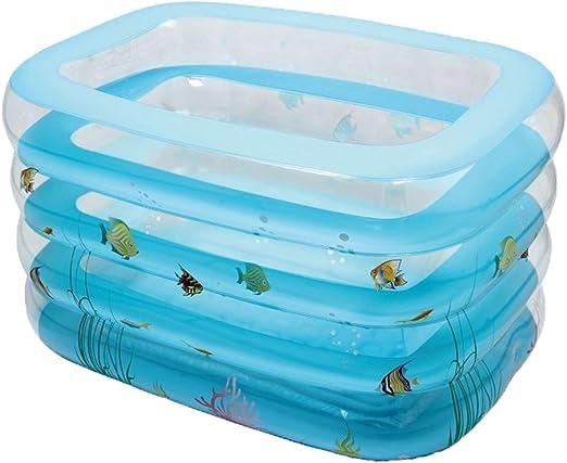 LYM & bañera Plegable Bebé Piscina Aislamiento Transparente ...