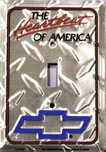 Chevy Heartbeat Diamond Light Switch Cover (single) ()