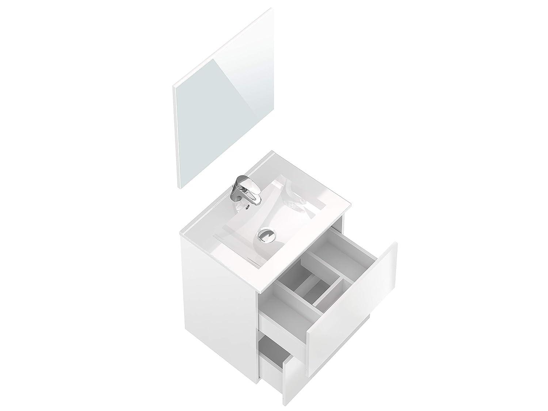 Colonna da bagno 30 x 27 x 140 cm Movian Dive colore bianco