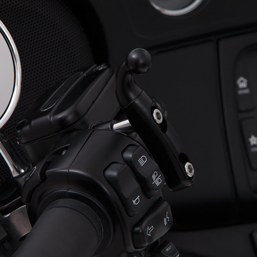 Ciro 50411 Drink Holder Black Perch Mount For Harley-Davidson Models