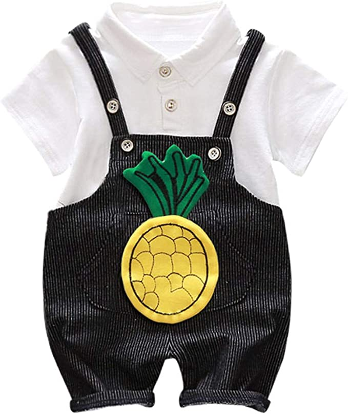 Amazon.com: Pollyhb - Trajes de bebé informales, a rayas, de ...