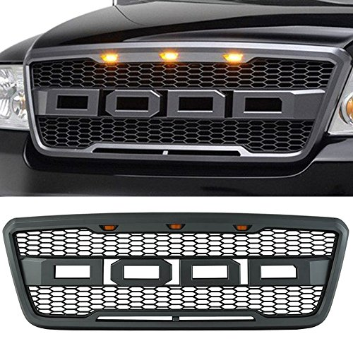 - Packaged Grille fits 2004-2008 Ford F-150 Models | New Raptor Style Charcoal Gray ABS Front Bumper Grille Hood Mesh Guard by IKON MOTORSPORTS | 2005 2006 2007
