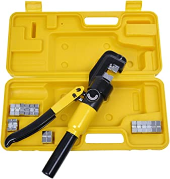 Hydraulic Crimper Crimping Tool//w 8 Dies Wire Battery Cable Lug Terminal 10 Ton