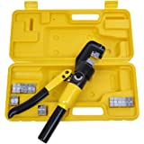 Yescom 10 Ton Crimping Tool Set 4mm-70mm Hydraulic Wire Crimper Battery Cable Lug