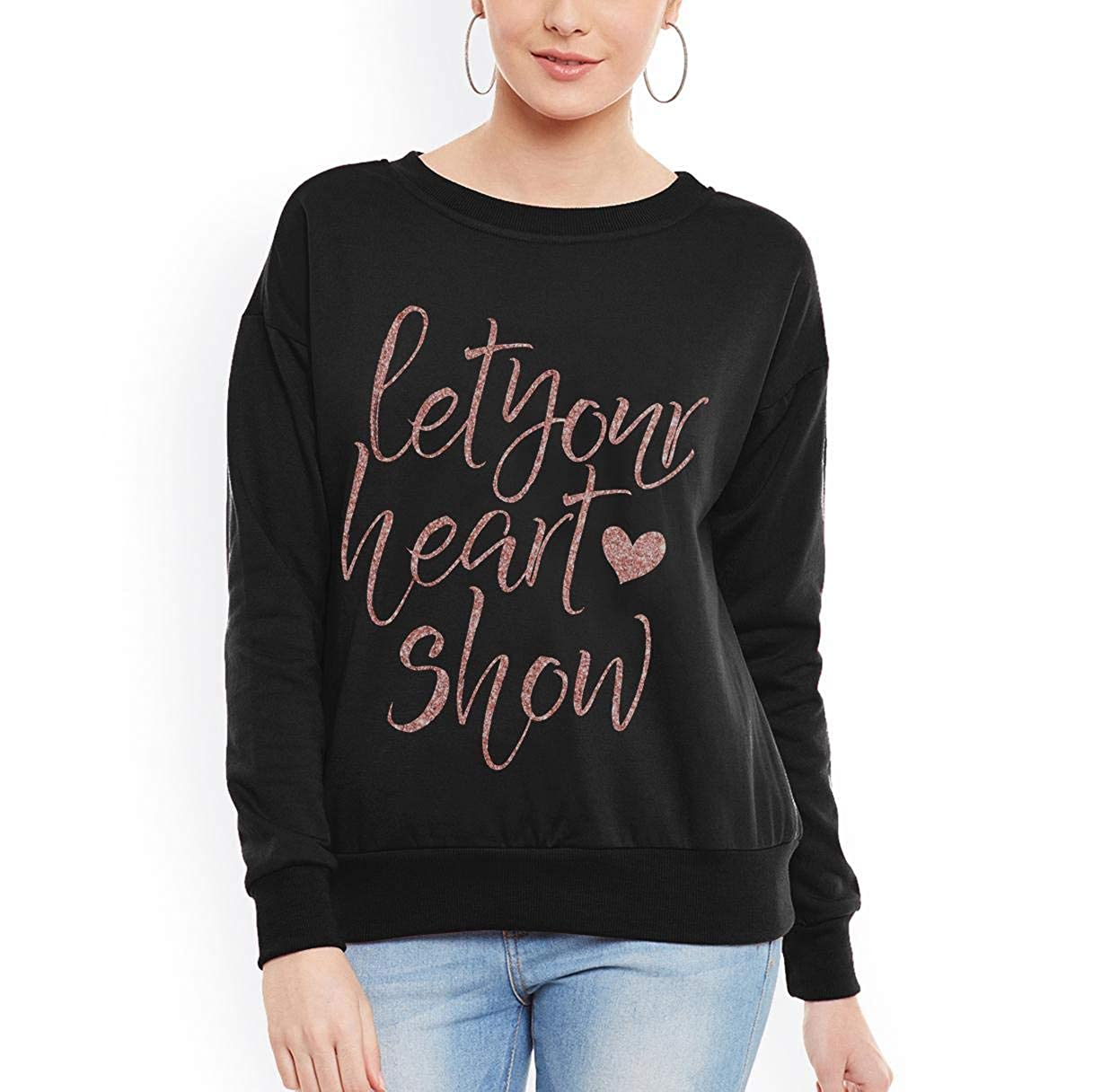 tee Doryti Let Your Heart Show Lover Awesome Gift Women Sweatshirt