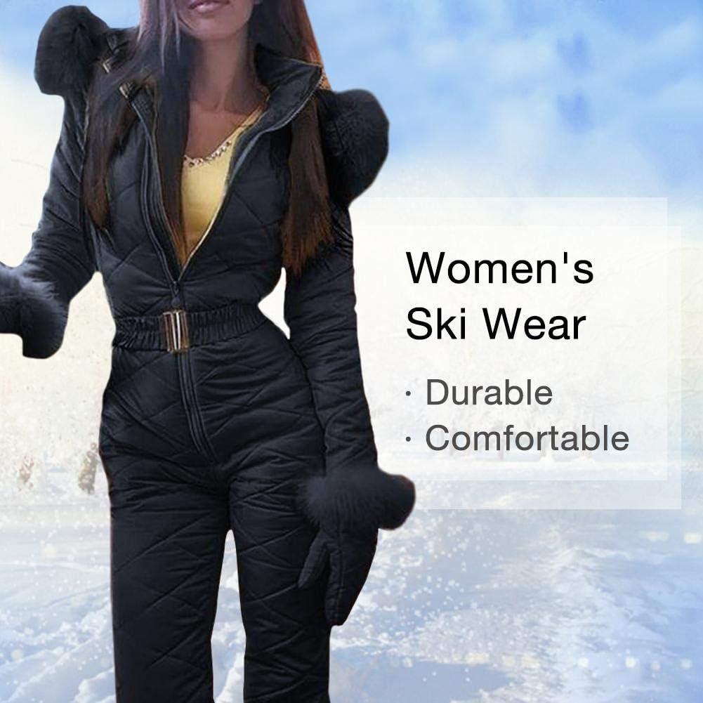 TOMATION Damen Skianzug,Frauen Einteiliger Skioverall Atmungsaktive Snowboardjacke Skihose Sets,Winddichter Wasserdichter