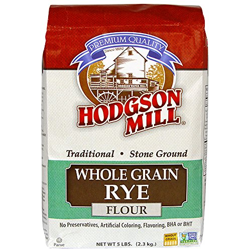 Hodgson Mill Whole Grain Rye Flour 5-Pound Sacks (Pack of 6), Traditional Stone-Ground Whole Grain Rye Flour, for Rye or Pumpernickel Bread ()