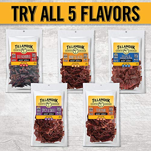 Tillamook Country Smoker All Natural, Real Hardwood Smoked Honey Glazed Beef Jerky, 10 oz Bag