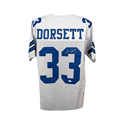 new product 550c3 e3e0a Tony Dorsett Autographed Dallas Cowboys Custom White ...