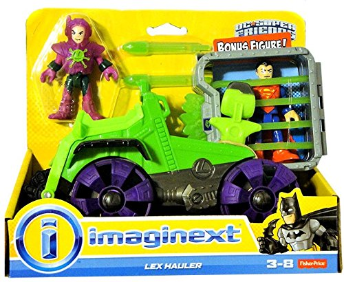 Fisher Price Imaginext Toy - DC Super Friends - Lex Hauler - Lex Luther and Superman Action Figure