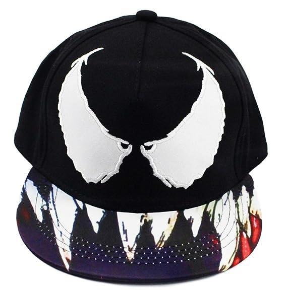 Marvel Venom Snapback Black Baseball Cap Hat at Amazon Men s ... 6dcea78ccb6