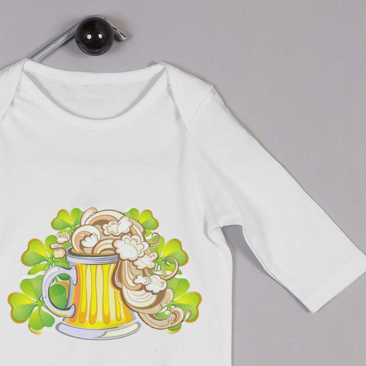 nordic runes St.Patricks Day Shamrocks Beer Long Sleeve Baby Onesies Toddler Baby Girl//Boy Clothes Bodysuit One Piece White