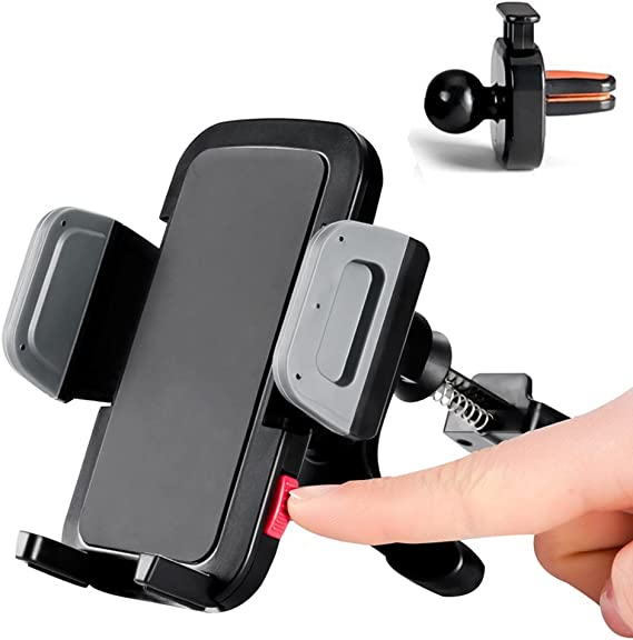 Gravity Air Vent Phone Holder for Car Samsung Galaxy s10+ s9 s8 Note 10+ 9 Google Pixel Etc Black Compatible iPhone 11 Pro Max XR 8+ X 8 7 Xs Max 6s+ 6 VANMASS Car Vent Phone Mount Hands-Free