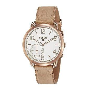 d5ba0e0c7b7 Amazon.com: Fossil Hybrid Smartwatch - Q Tailor Light Brown Leather: Watches