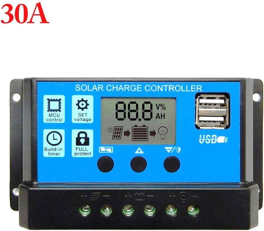 on/sale 60A Solarladeregler Solarregler LCD Solarladeger/ät Ladesteuerger/ät Stromanzeige LCD-Solarpanel Mit Dual-USB PoeticHouse Solarladeger/ät Controller Solarpanel Batterie Intelligenter Regler
