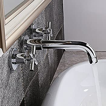 Kohler K T14414 3 Cp Purist Two Handle Wall Mount Faucet