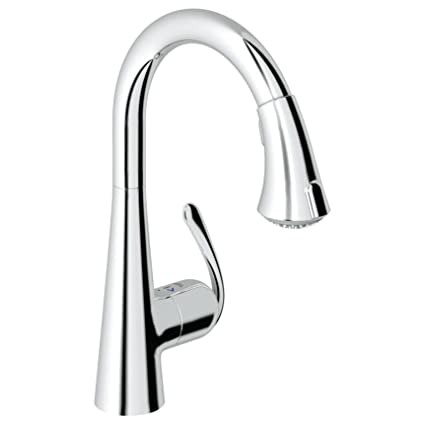 Grohe 32 298 000 Ladylux Café Main Sink Dual Spray Pull-Down Kitchen ...