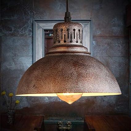 XFZ Lampadario a sospensione stile industriale vintage, portalampade e27  con retro decorazione fai da te