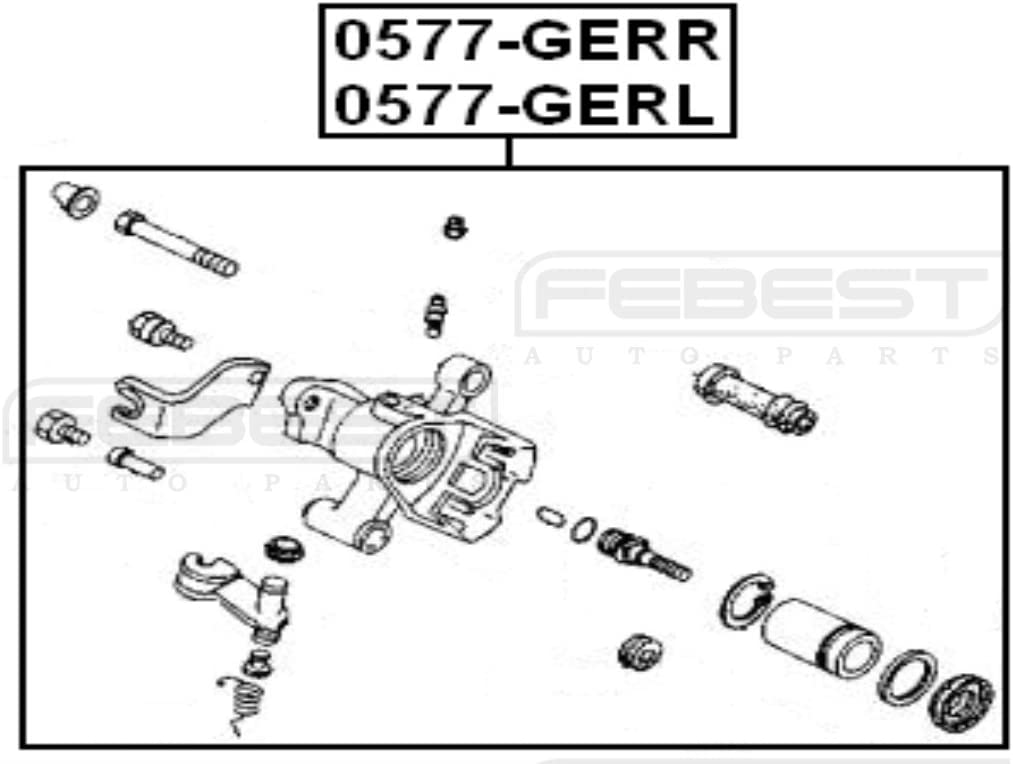Rear Right Febest Gaye2661Xb For Mazda Brake Caliper