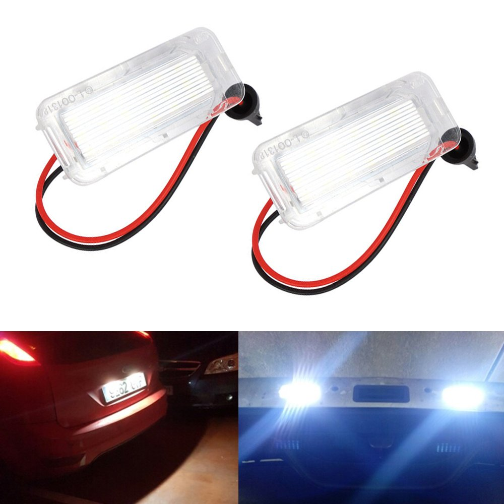 Haichen 2pcs LED License Plate Light Canbus, Error Free (DC 12V)