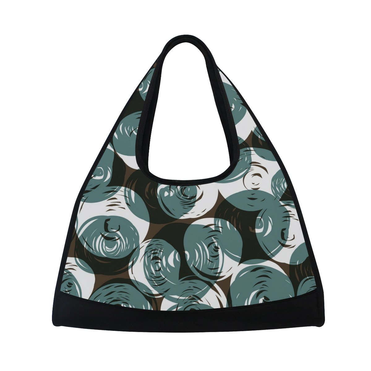 Gym Bag Sports Holdall Geometric Figure Round Canvas Shoulder Bag Overnight Travel Bag for Men and Women