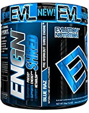 Evlution Nutrition ENGN SHRED   Supplément Pour La Réduction Du Poids  Poudre Pré-entraînement/Brûleur De Graisse   Augmente L'Energie   Formule Thermogénique   30 Doses   Blue Raz