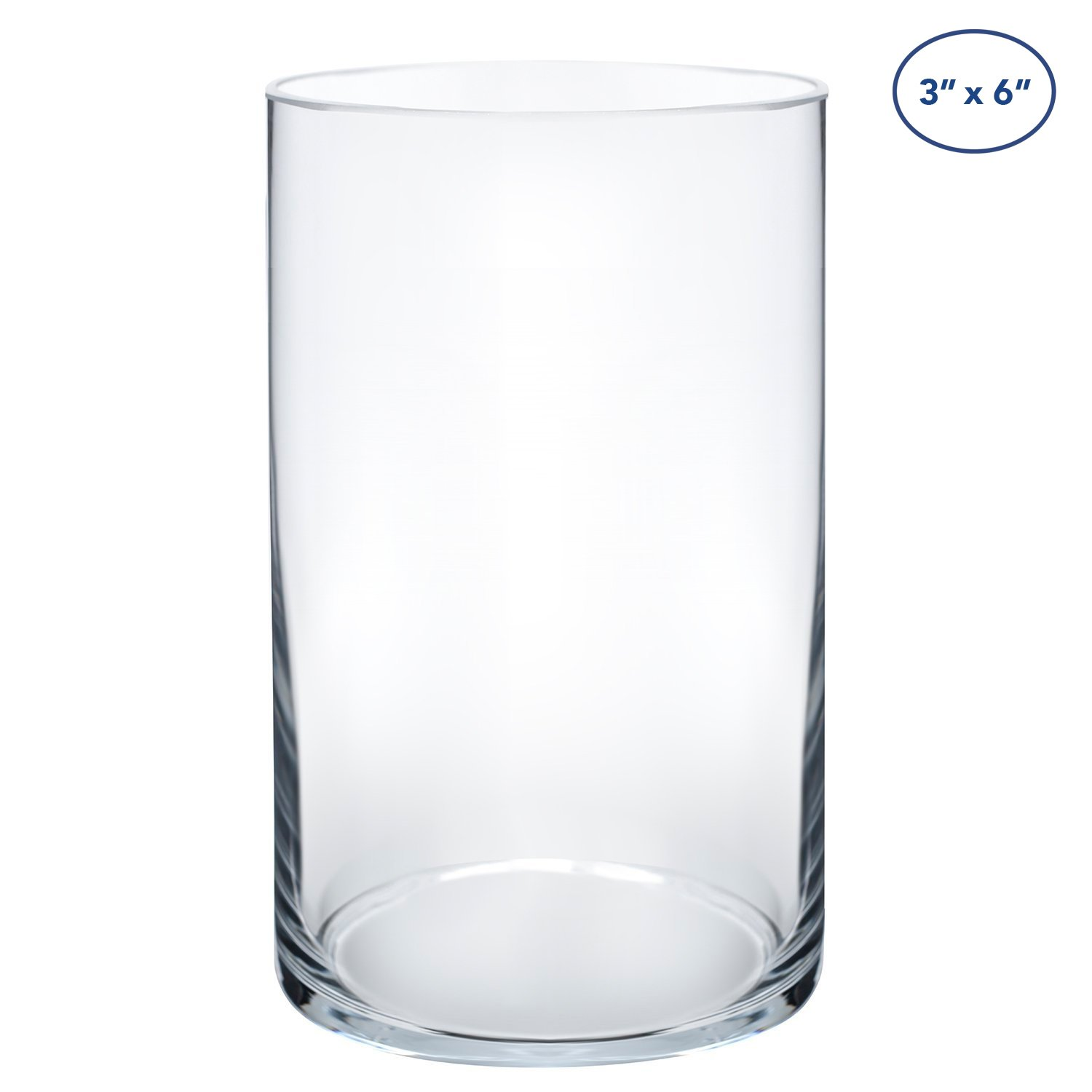 Royal Imports Flower Glass Vase Decorative Centerpiece For Home or Wedding by Cylinder Shape, 6'' Tall, 3.5'' Opening, Clear by Royal Imports