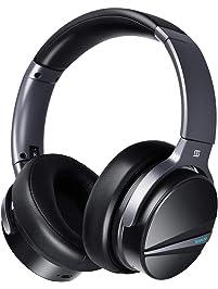Active Noise Cancelling Headphones - SHIVR 3D Bluetooth Headphones w/Immersive Audio, Wireless Over Ear Headphones w...