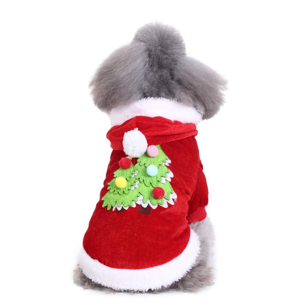 Vêtements pour Chien,Robe de Festival de vêtements de Sapin de Noël Chien Confortable,Manteau Habits pour Chien (XL, Rouge)