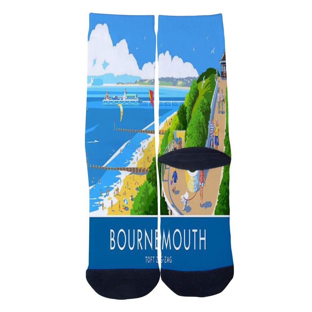 Mens Womens Casual Toft ZigZag Bournemouth British Seaside Socks Crazy Custom Socks Creative Personality Crew Socks