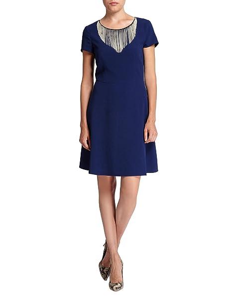 Morgan RCHAIN-Vestido Mujer, Azul, Small