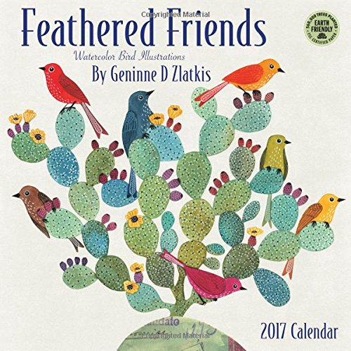 Feathered Friends 2017 Wall Calendar: Watercolor Bird Illustrations