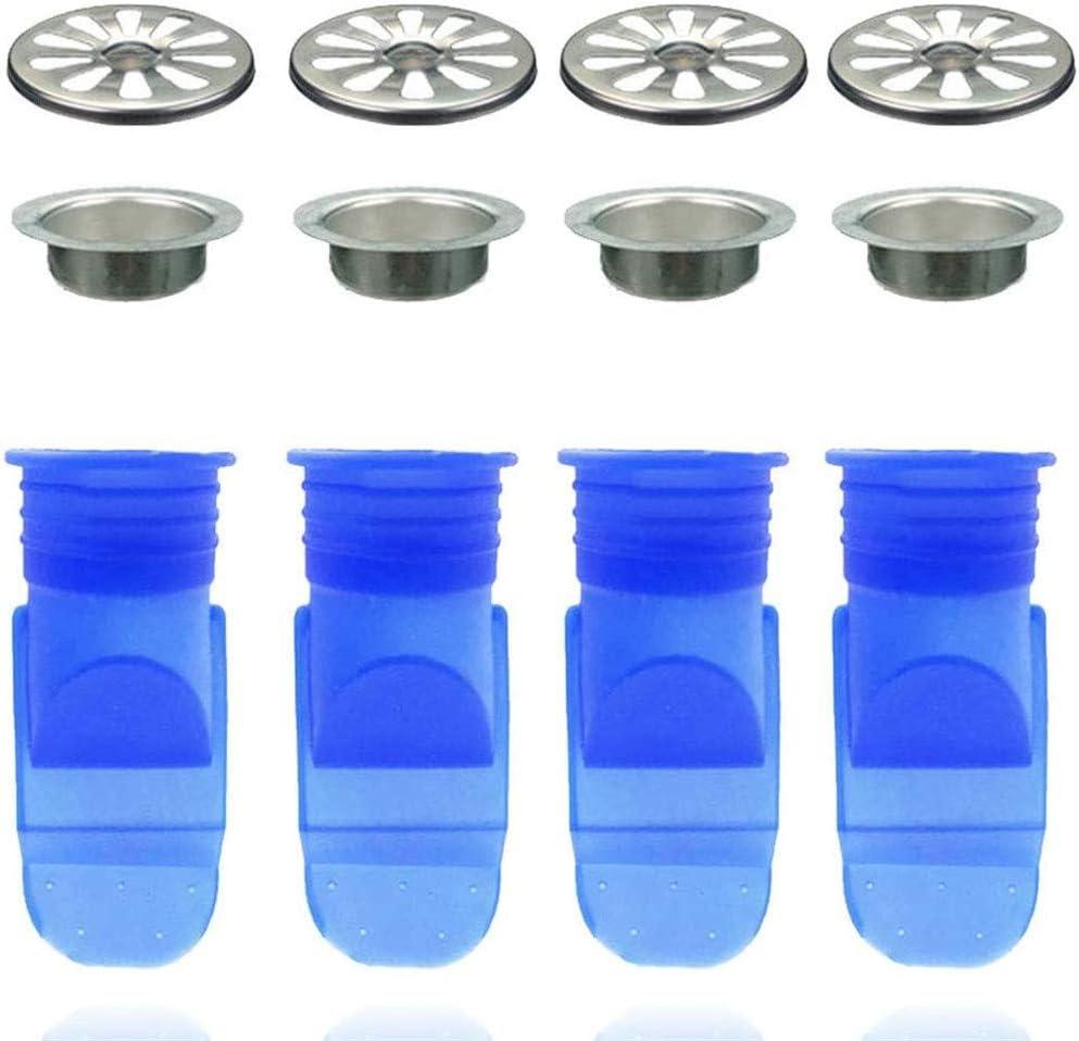 Dispositivo Repelente de Insectos antiolores para ba/ño//Cocina//colad Surfilter 4PCS N/úcleo de Silicona Desag/üe de Piso Cubierta de desag/üe Anillo de Sellado de Drenaje de Piso de alcantarilla