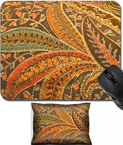 (MSD Mouse Wrist Rest and Small Mousepad Set, 2pc Wrist Support design: 11699326 william morris design paisley fabric)