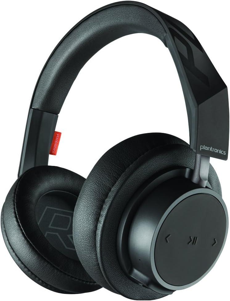 Amazon Com Plantronics Backbeat Go 600 Noise Isolating Headphones Over The Ear Bluetooth Headphones Black