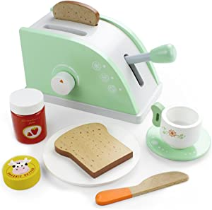 Imagination Generation Wooden Pop Up Play Toaster Set - 10 Assorted Pieces!