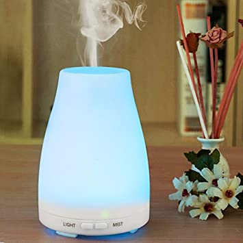 UK Aroma Essential Oil Diffuser LED Ultrasonic Aromatherapy Humidifier Purifier