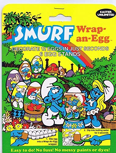 Smurf Wrap an Egg 1984 New in Sealed Package Easter Unlimited Smurfs - Unlimited Package